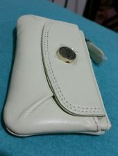 ♡♡♡$75.00 Bnwt Stunning IVORY B /Card OROTON  Leather Wallet Coin key PURSE bag