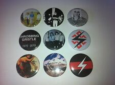 9 Throbbing Gristle button pin badges 25mm Industrial Hamburger Lady Nosie AB/7A