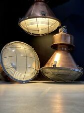Vintage Industrial Copper Light Pendant