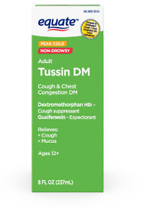 EQUATE TUSSIN SYRUP DM, COUGH SUPPRESSANT AND EXPECTORANT , 8 FL OZ