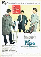 PUBLICITE ADVERTISING 036  1959  Pipo  manteaux auto-coat  enfants garçons