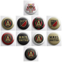 ATLANTA UNITED FC - MLS soccer pinback buttons - sports team pin badges - pins