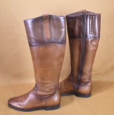 5S Ralph Harris Damen Stiefel Boots Leder Gr. 38 braun flach Reiterlook