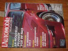 $$$ Revue L'automobile N°469 Mercedes 300 EPeugeot24h du MansGP Canada