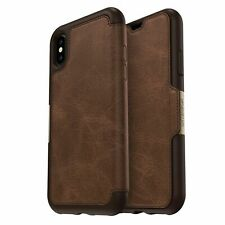 Genuine OTTERBOX Strada Folio Leather Card Case for iPhone X Espresso St1