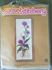 "Sunset Stitchery ""Thistles"" Crewel Embroidery Kit"