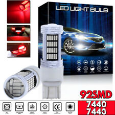 2pcs 7443 7444NA 92-4014SMD High Power Red Projector LED Tail Brake Light Bulb