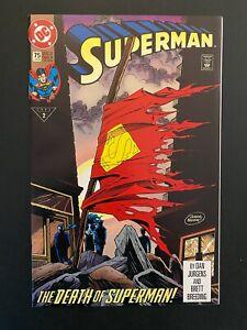 Superman 75 The Death of Superman! High Grade DC Comic Book CL83-34