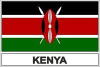 Sticker adesivi adesivo bandiera EAK kenya