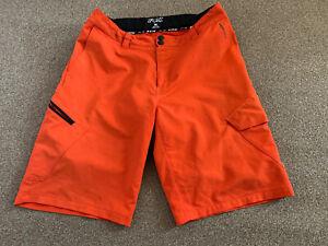 "Mens FOX 36"" Waist Orange Racing Cycling Shorts Vgc"