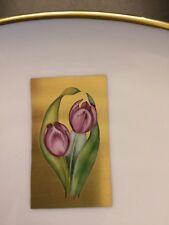 Herend Ungarn Teller handbemalt Tulpen  Goldrand Hermitage 27 cm