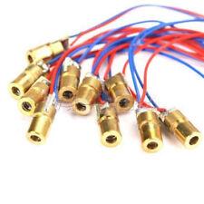 10 X 650nm 6mm 3V 5mW Laser Dot Diode Module Red Copper Head Mini pointer L49