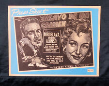 "LUIS BUNUEL ""ENSAYO DE UN CRIMEN"" MIROSLAVA ERNESTO ALONSO PRESS SHEET RARE 1955"