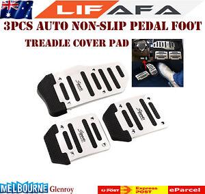 3Pcs Brand New Non Slip Sports Vehicle Manual Car Pedal Cover Alloy Silver MAM