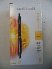 uni-ball 307 Retractable Gel Pens, Medium Point, Black, 12-Pack, 1927258