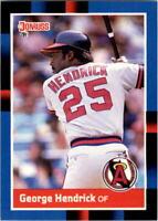 1988 George Hendrick Donruss Baseball Card #479