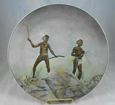 Rare Vintage ROYAL DOULTON  Aborigines With  Hunting Weapons Sepia Photo Plate