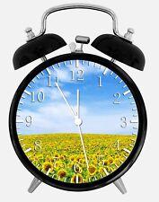 "Sun Flowers Alarm Desk Clock 3.75"" Home or Office Decor Z158 Nice For Gift"