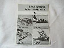 Allis Chalmers 3000 Disc Harrows Specification Sheet Brochure