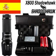 80000LM Police CREE XML L2 LED Militar Táctica Linterna faro 2PCS 18650 batería