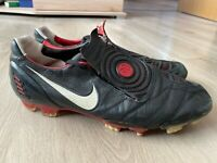 Nike Total 90 Laser II K-FG Football Boots Red Black 2008 Size - UK 9 / EUR 44