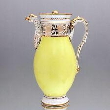 Frankreich um 1800: große Empire Kaffeekanne, Gelb, Gold, Adler, Kanne
