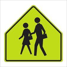 "School Crossing Sign 30"", Aluminum, Reflective (S1-1)"