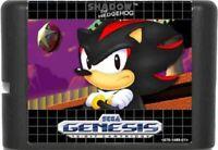 Shadow The Hedgehog 16 Bit Game Card For Sega Genesis / Mega Drive System