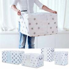 New Foldable Large Storage Bag Cloth Quilt Closet Sweater Organizer Box Printed