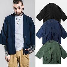 New Japan Vintage Kimono Dress Shirt Men's Cardigan Casual Tops Jacket Coat
