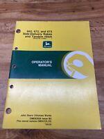 John Deere 662 672 673 Side-Delivery Rake Operator's Manual