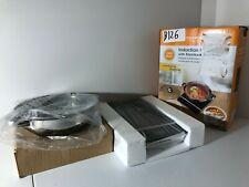 Electric Induction Cooker Portable Burner + Stainless Steel Pot Set 1800W Black