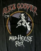 ALICE COOPER cd lgo MAD HOUSE ROCK Official Grey SHIRT SMALL New OOP