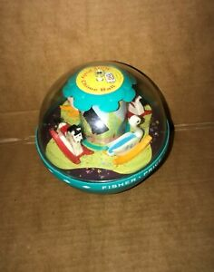 Fisher Price Roly Poly Chime Ball 1972 Vintage *Working* Good Condition