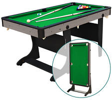 5' Folding Billiard Pool Table Cues Balls Home Game Room Playing Kids Play Games