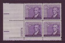 #1105 JAMES MONROE. WHOLESALE LOT OF (50) MINT PLATE BLOCKS. F-VF NH!