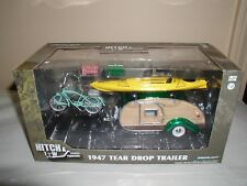 greenlight hitch & tow green machine 1947 tear drop trailer,  1:24 NEW