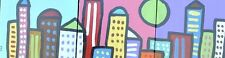 Cityscape City Skyline - Folk Art Pop Painting Texas Artist Paco Felici