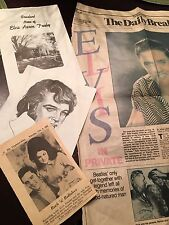 Elvis Graceland Pamphlet And Lisa Marie Presley's Birth Announcement