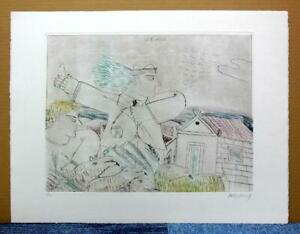 """ALECOS FASSIANOS""""MYTHOLOGIE QUOTIDIENNE""""ORIGINAL ETCHING SIGNED and NUMBERED #2"""