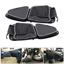 Left&Right UTV Side Door Bags+Knee Pad For Polaris RZR XP 1000 900 S 2015-2018