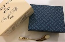 Vintage Avon Pin Graceful Tulip 1980 In Original Box Never Used