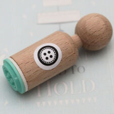 BUTTON Rubber Stamp Round - VERY MINI - Scrapbooking / Craft / Tags
