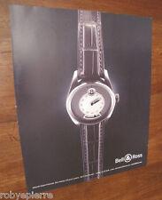 Pubblicità articolo rivista orologio Bell & Ross Saltarello doppia finestrella