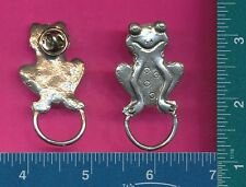 eyeglass holder pin d4120 Lead free pewter frog