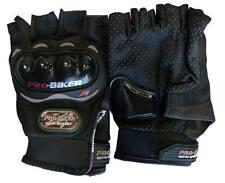 Half Finger Black Driving Motorcycle Fingerless Gloves Bike Cycling Mittens (L)