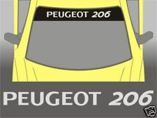 Peugeot 206 Full Sunstrip Sun Strip Sticker Windscreen