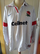 "1997-1999 England Home Rugby Union long sleeve Shirt adult XXL 47/48"" (20413)"