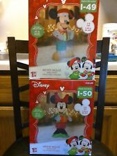 Inflatable Mickey And Minnie Christmas Yard Decorations 5 Feet Tall