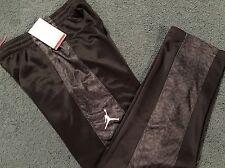 Nwt Nike Air Jordan Boys Yxl Black/Dark Gray Therma-Fit Elephant Print Pants Yxl